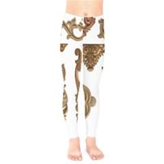 Pattern Motif Decor Kids  Legging by Sapixe
