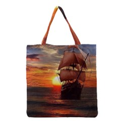 Pirate Ship Grocery Tote Bag by Sapixe