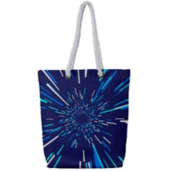 Space Trip 3 Full Print Rope Handle Tote (small) by jumpercat