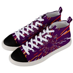 Space Trip 4 Men s Mid Top Canvas Sneakers by jumpercat