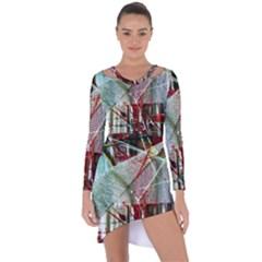 Hidden Strings Of Urity 10 Asymmetric Cut Out Shift Dress