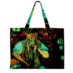 Girl In A Bar Zipper Mini Tote Bag by bestdesignintheworld