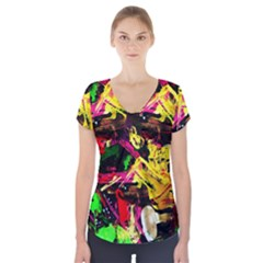 Spooky Attick 1 Short Sleeve Front Detail Top