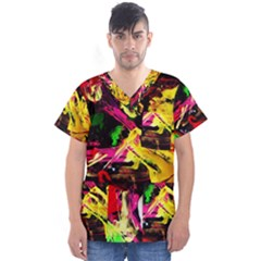Spooky Attick 1 Men s V Neck Scrub Top