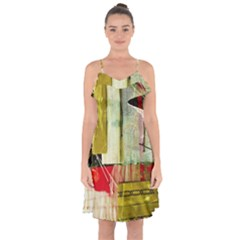 Hidden Strings Of Purity 5 Ruffle Detail Chiffon Dress