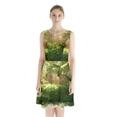 Highland Park 19 Sleeveless Waist Tie Chiffon Dress