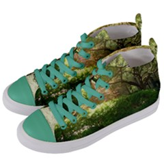 Highland Park 19 Women s Mid Top Canvas Sneakers by bestdesignintheworld