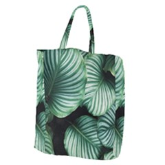 Tropical Florals Giant Grocery Zipper Tote by goljakoff