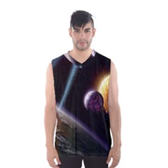 Planets In Space Men s Basketball Tank Top