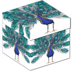 Peacock Bird Peacock Feathers Storage Stool 12