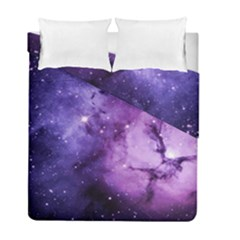 Purple Space Duvet Cover Double Side (full/ Double Size) by Sapixe