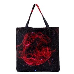 Red Nebulae Stella Grocery Tote Bag by Sapixe