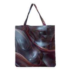 Shells Around Tubes Abstract Grocery Tote Bag by Sapixe