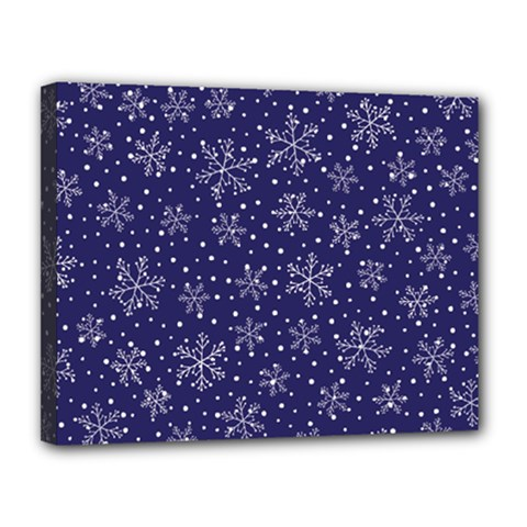 Snowflakes Pattern Canvas 14  X 11  by Sapixe
