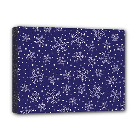 Snowflakes Pattern Deluxe Canvas 16  X 12   by Sapixe
