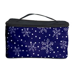 Snowflakes Pattern Cosmetic Storage Case by Sapixe