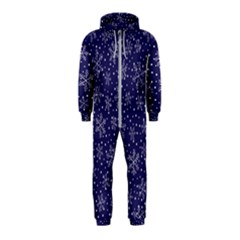 Snowflakes Pattern Hooded Jumpsuit (kids) by Sapixe