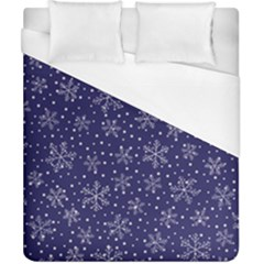 Snowflakes Pattern Duvet Cover (california King Size) by Sapixe