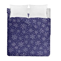 Snowflakes Pattern Duvet Cover Double Side (full/ Double Size) by Sapixe