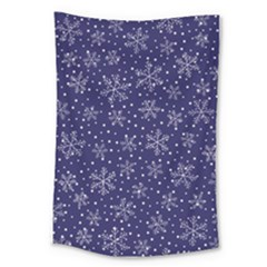 Snowflakes Pattern Large Tapestry by Sapixe
