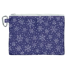 Snowflakes Pattern Canvas Cosmetic Bag (xl) by Sapixe
