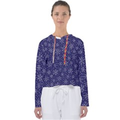Snowflakes Pattern Women s Slouchy Sweat by Sapixe
