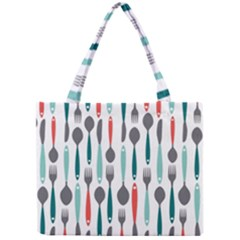 Spoon Fork Knife Pattern Mini Tote Bag by Sapixe