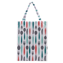 Spoon Fork Knife Pattern Classic Tote Bag by Sapixe