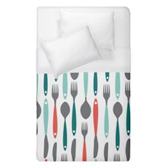 Spoon Fork Knife Pattern Duvet Cover (single Size) by Sapixe
