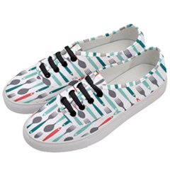Spoon Fork Knife Pattern Women s Classic Low Top Sneakers by Sapixe