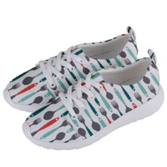 Spoon Fork Knife Pattern Women s Lightweight Sports Shoes by Sapixe