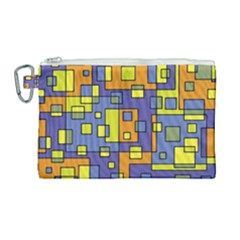 Square Background Background Texture Canvas Cosmetic Bag (large)