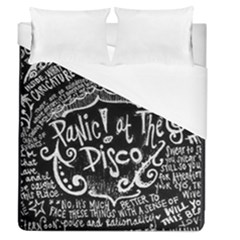 Panic! At The Disco Lyric Quotes Duvet Cover (queen Size)
