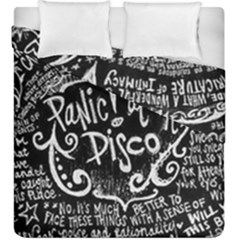 Panic! At The Disco Lyric Quotes Duvet Cover Double Side (king Size)