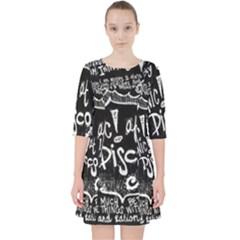 Panic! At The Disco Lyric Quotes Pocket Dress by Samandel