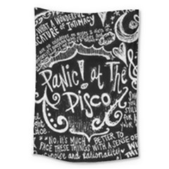 Panic! At The Disco Lyric Quotes Large Tapestry by Samandel