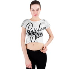 Panic At The Disco Flowers Crew Neck Crop Top