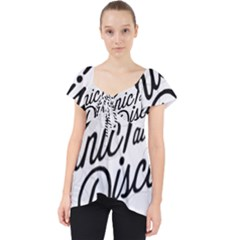 Panic At The Disco Flowers Lace Front Dolly Top