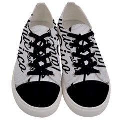 Panic At The Disco Flowers Men s Low Top Canvas Sneakers