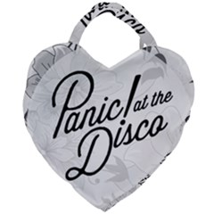 Panic At The Disco Flowers Giant Heart Shaped Tote by Samandel