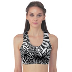 Panic At The Disco Lyric Quotes Retina Ready Sports Bra by Samandel