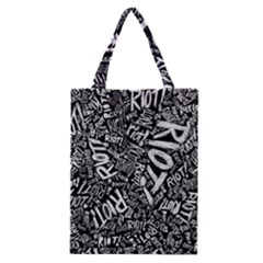 Panic At The Disco Lyric Quotes Retina Ready Classic Tote Bag