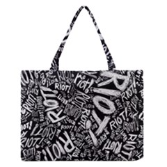 Panic At The Disco Lyric Quotes Retina Ready Zipper Medium Tote Bag by Samandel