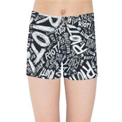 Panic At The Disco Lyric Quotes Retina Ready Kids Sports Shorts by Samandel