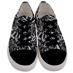 Panic At The Disco Lyric Quotes Retina Ready Men s Low Top Canvas Sneakers