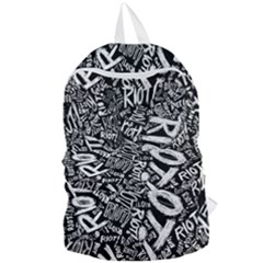 Panic At The Disco Lyric Quotes Retina Ready Foldable Lightweight Backpack by Samandel