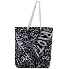 Panic At The Disco Lyric Quotes Retina Ready Full Print Rope Handle Tote (large) by Samandel