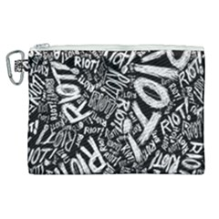 Panic At The Disco Lyric Quotes Retina Ready Canvas Cosmetic Bag (xl)