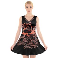 Panic At The Disco   Lying Is The Most Fun A Girl Have Without Taking Her Clothes V Neck Sleeveless Skater Dress by Samandel