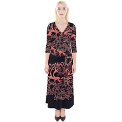 Panic At The Disco   Lying Is The Most Fun A Girl Have Without Taking Her Clothes Quarter Sleeve Wrap Maxi Dress